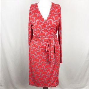 Ann Taylor -Red- Fern Always On size 12 wrap dress